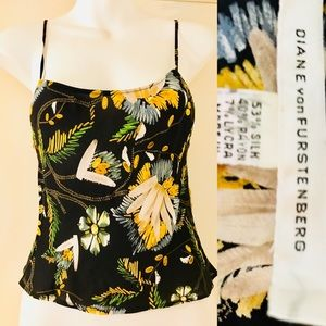 DIANE von FURSTENBERG Sweet Silk Floral CAMI SZ 6
